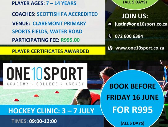 Holiday Football (Soccer) and Hockey Coaching Clinics in Cape Town, Southern Suburbs