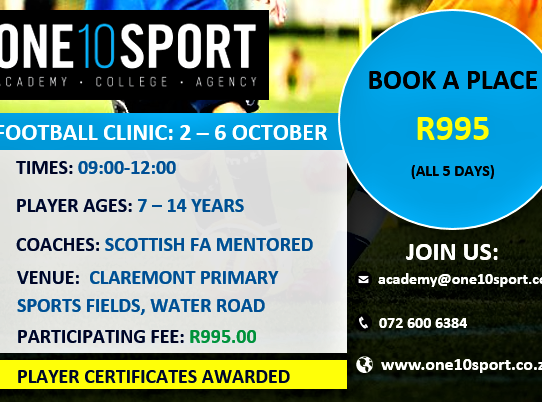 Holiday Soccer Clinic in Cape Town (Southern Suburbs)