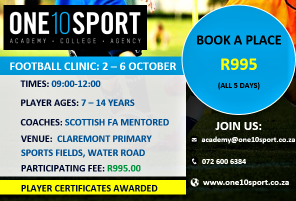 Image of Holiday Football (Soccer) Clinic in the Southern Suburbs, Cape Town.