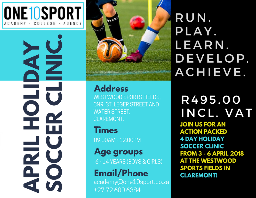 April Holiday Soccer Clinic in Cape Town