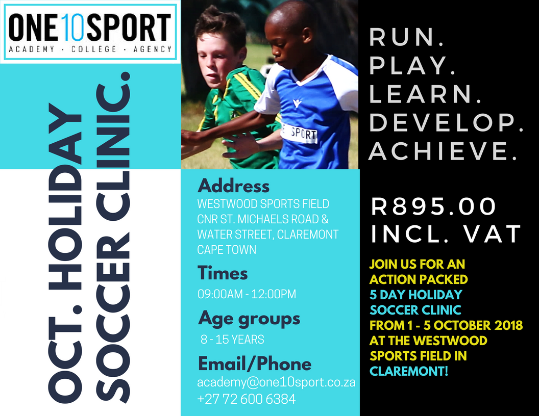 Holiday Soccer Clinic in Cape Town, Southern Suburbs