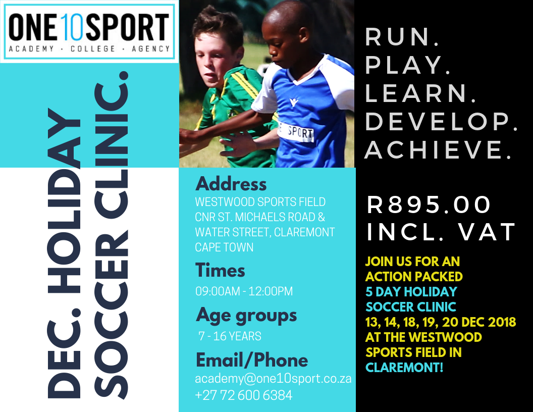 December Holiday Soccer Clinic in Cape Town, Southern Suburbs