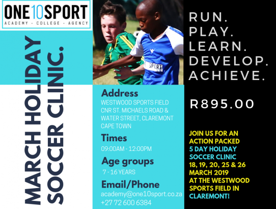 Holiday Soccer Coaching Clinic in Claremont, Cape Town