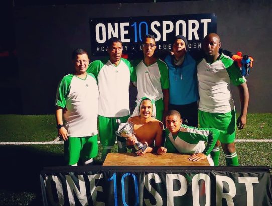 Social League Champions: ONE10SPORT Five-a-side, Claremont, Cape Town.