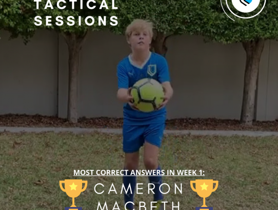 Tactical Session Winner: Cameron Macbeth