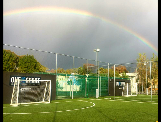 Five-a-side at the end of the rainbow. 🌈