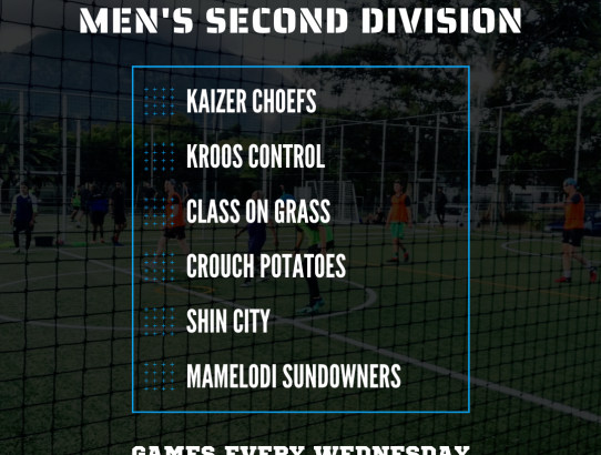 Men's Second Division Kicks off!